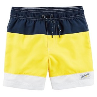 Carter's Boys' Swim Trunks (6, Navy/Yellow)
