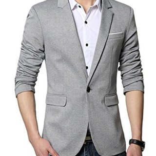 Benibos Men's Premium Casual One Button Slim Fit Blazer Suit Jacket (S, 3625Grey)