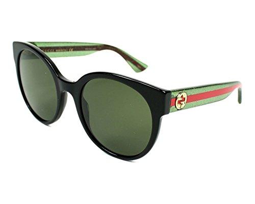 Gucci Women Black/Green Sunglasses 54mm