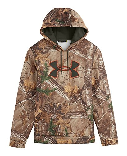Under Armour UA Camo Big Logo Hoody - Men's Realtree Ap Xtra / Maverick Brown Medium