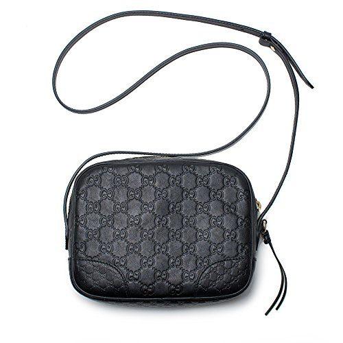Gucci Bree GG Supreme Camera Case Black Leather Bag Handbag Authentic Italy New