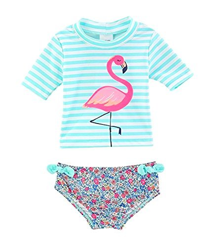 e54530bce Carter's Baby Girls' Flamingo Rashguard Swimsuit Set 12 Months Clout ...