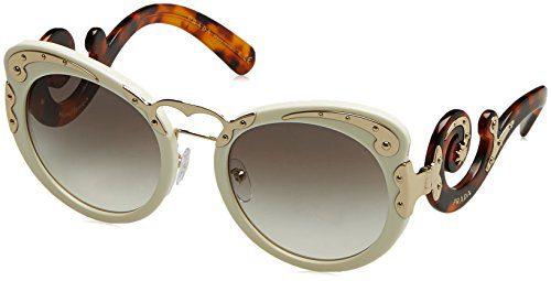 Prada Women's Embellished Sunglasses, Ivory/Grey, One Size