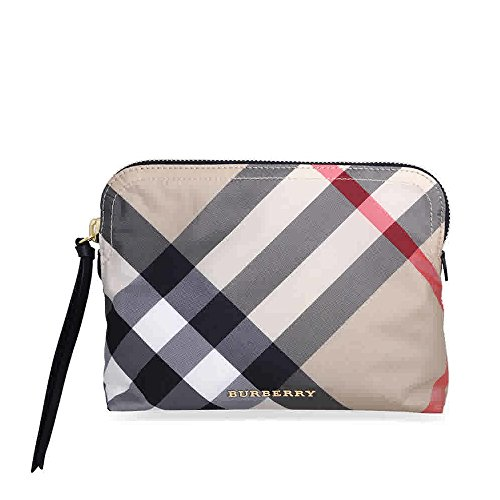 Burberry Large Zip-top Technical Pouch - Camel
