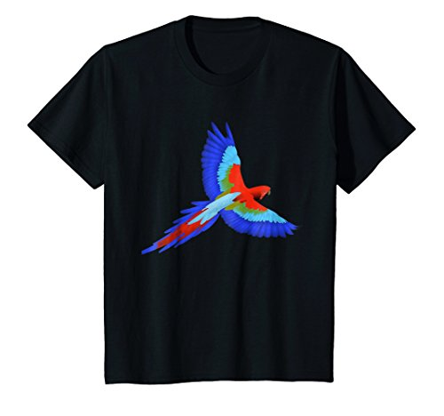 Kids Be A Maverick T-Shirt Colorful Bird Design 8 Black