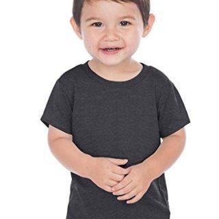 Kavio Infants Crw Neck S/S T Jrsy CVC.(Same 0432), HT.Charcoal, 18 Months