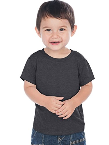 Kavio Infants Crw Neck S/S T Jrsy CVC.(Same 0432), HT.Charcoal, 18 Months
