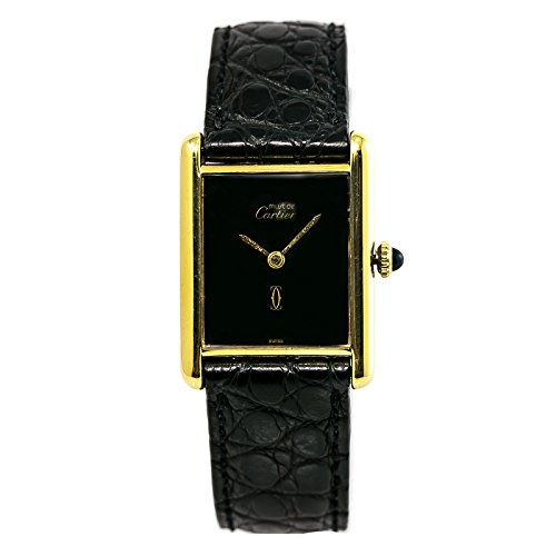 Cartier Tank Vermeil Mechanical-Hand-Wind Womens Watch (Certified Pre-Owned)