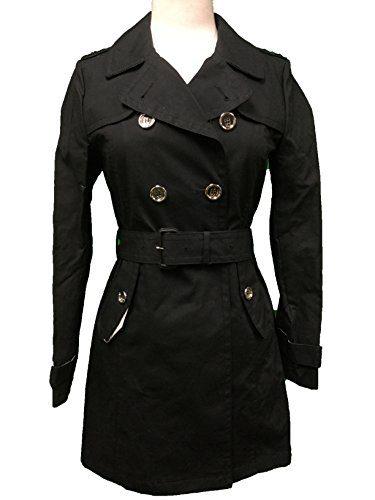 Coach Women's Mad Long Trench Coat Jacket Black
