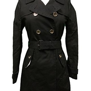 Coach Women's Mad Long Trench Coat Jacket Black