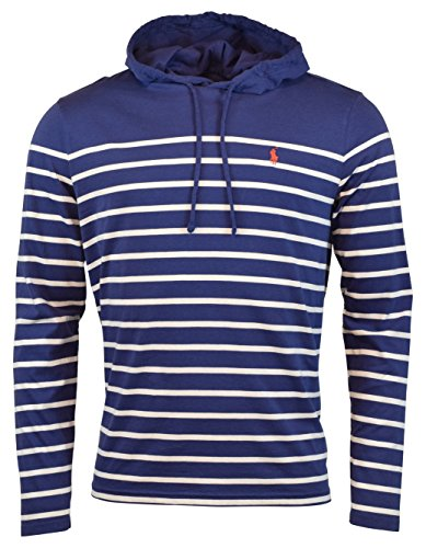 Polo Ralph Lauren Men's Jersey Knit Hoodie Long Sleeve Tee - XL - Fall Royal/White