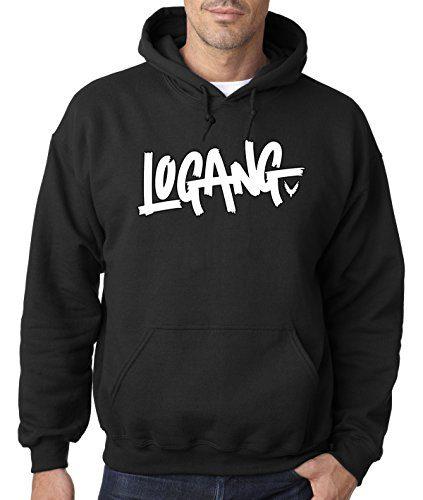 New Way 824 - Adult Hoodie Logang Logan Paul Maverick Unisex Pullover Sweatshirt Medium Black