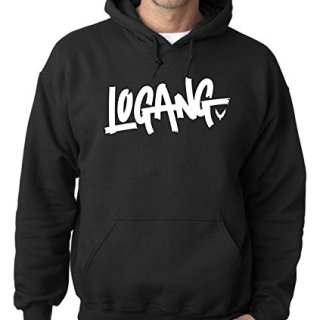 New Way 824 - Adult Hoodie Logang Logan Paul Maverick Unisex Pullover Sweatshirt Medium Black