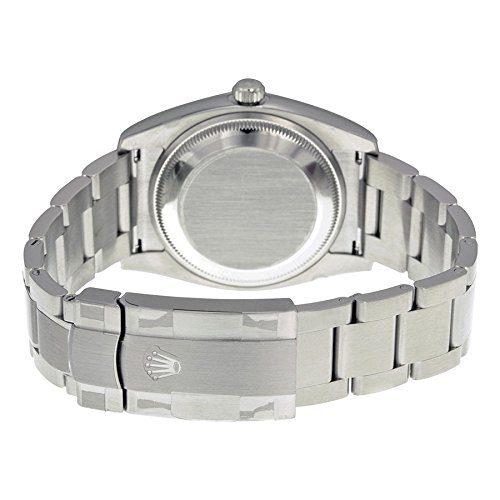 Rolex Airking Blue Arabic Dial Domed Bezel Mens Watch