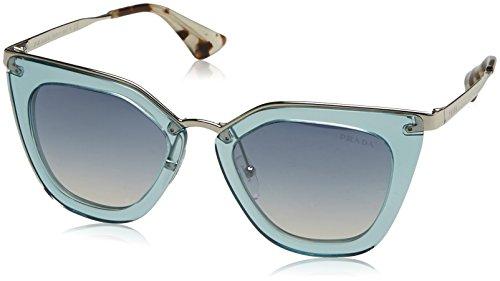 Prada Women's Transparent Sunglasses, Transparent Azure/Blue, One Size