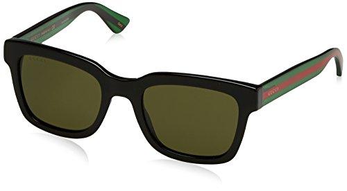 Gucci Fashion Sunglasses, 52/21/145, Black / Green / Green