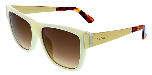 Gucci Sunglasses - 3718 / Frame: Ivory Lens: Brown Gradient