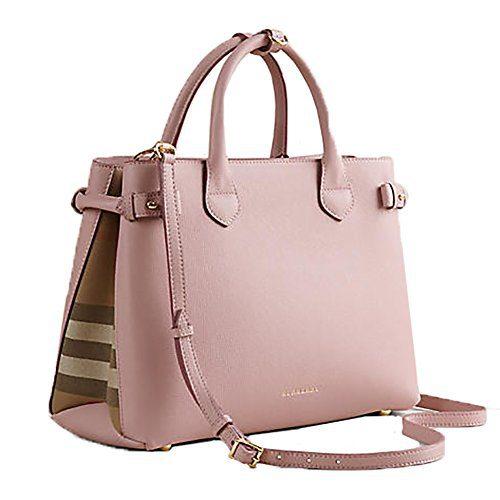 Tote Bag Handbag Burberry Medium Banner House Check PALE ORCHID Item