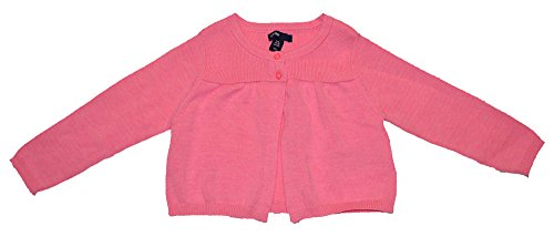 Baby Gap Girls Pink Shirred Flare Cardigan Sweater 0-3 Months
