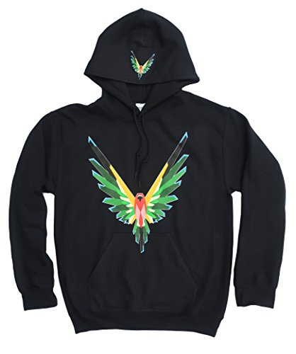 Logang Logan Paul Maverick Adult Black Hoodie (Multi-Color Bird Logo)