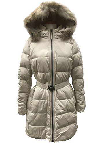 Coach Women's Legacy Down Puffer Long Jacket Coat (XLarge, Salt)