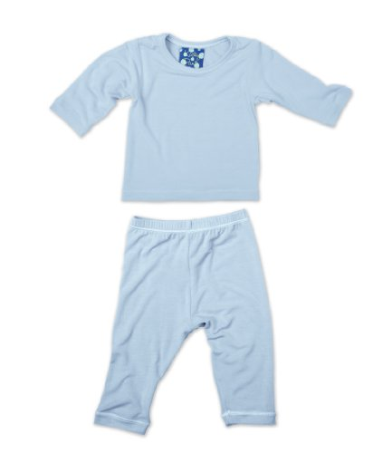 KicKee Pants Long Sleeved Pajama Set, Pond, 3-6 Months