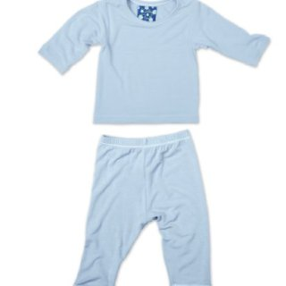 KicKee Pants Long Sleeved Pajama Set, Pond, 3-6 Months