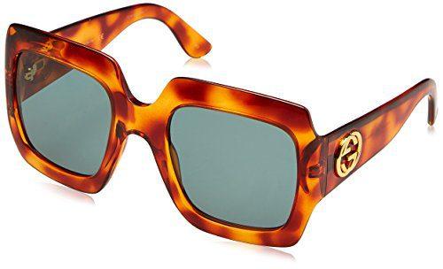 Gucci Avana-Avana With Green lenses 54MM Sunglasses