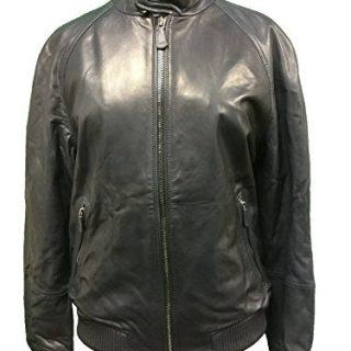 Coach Womens Leather Barracuda Jacket Coat Navy Small