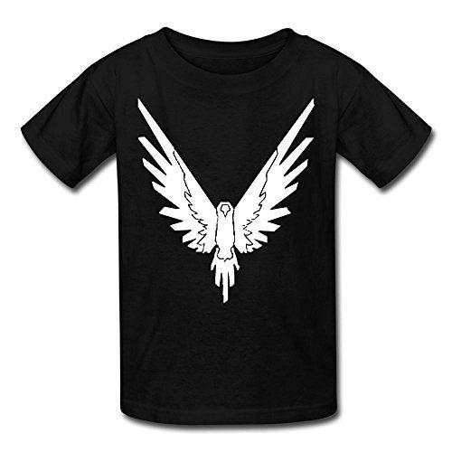 Christina W. Halle Youth Kids Spring Fashion T-Shirt Short Sleeve Logan Paul Logo Customization Black M