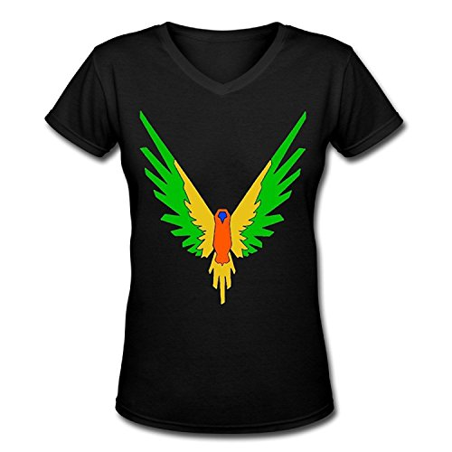 Doppelwalker Maverick Logo T Shirt,Logan Paul Logang YouTube Womens V Neck T-Shirts (M, Black01)