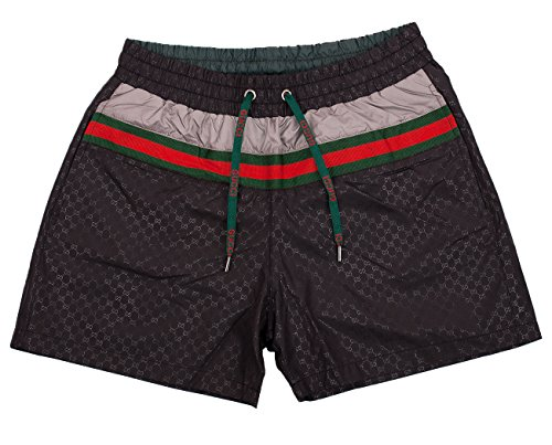 Gucci Swim Shorts, Black Mens Swim Trunks - Sizes: S, M, L, XL, XXL (S)