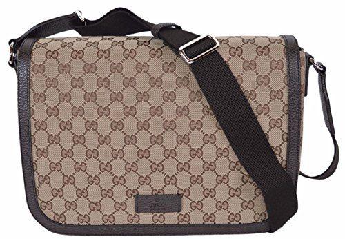 Gucci GG Guccissima Canvas Large Crossbody Messenger Bag (449171/Beige)