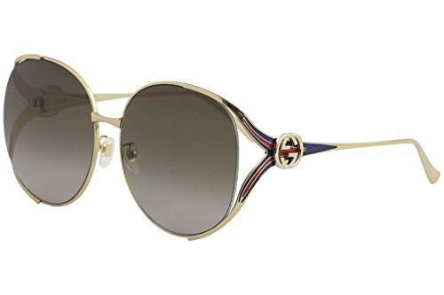d2485925aee Gucci sunglasses Gold - Blue - Brown grey black Gradient lenses ...