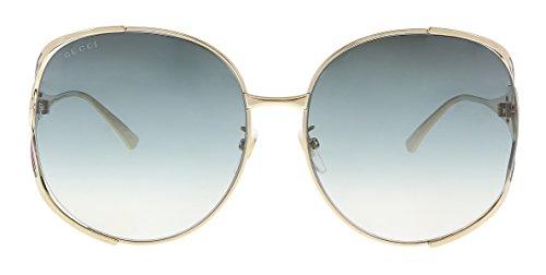Gucci sunglasses Gold - Blue - Blue Grey Gradient lenses