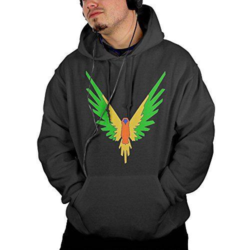 HYEECR Men's Parrot Maverick Logo Fashion Casual Hooded Sweatshirt With Pocket