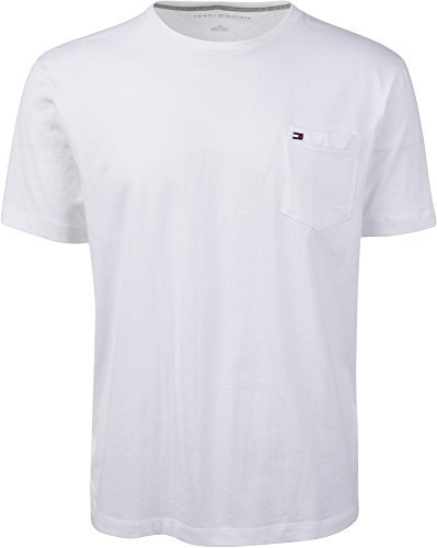 Tommy Hilfiger Mens Crew Neck Pocket T-shirt (XL, White)