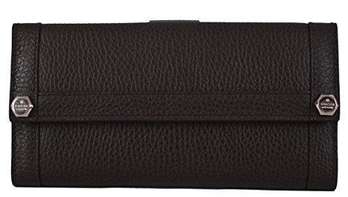 Gucci Women's Brown Textured Leather Continental Wallet W/Coin Pocket