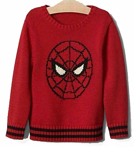 Baby Gap Boys Red Spiderman Crew Sweater 12-18 Months