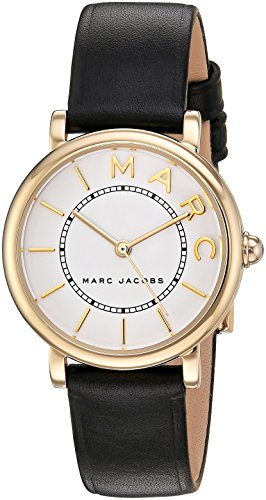 Marc Jacobs Women's 'Roxy' Quartz Stainless Steel and Leather Casual Watch, Color Black