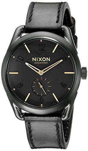 Nixon Men's Analog Display Swiss Quartz Black Watch