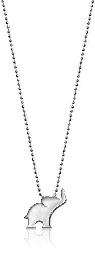 Alex Woo Little Luck Sterling Silver Elephant Pendant Necklace