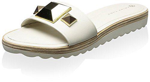 Trina Turk Women's Calabasas Sandal, Bone Vachetta/Ivory Eva, 7 M US