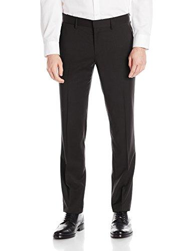 J.Lindeberg Men's Paulie Soft Comfort Wool Pant, Black, 44