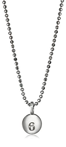 """Alex Woo Mini Addition 'Number 6' Chain in Sterling Silver Pendant Necklace, 16"""""""