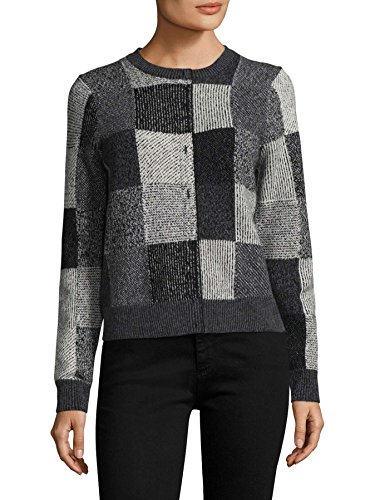 Marc Jacobs Ribbed Roundneck Sweater Black/Gray XS