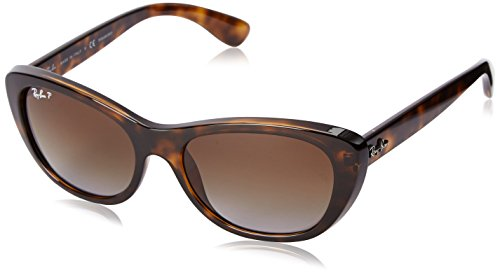 Ray-Ban INJECTED WOMAN SUNGLASS - LIGHT HAVANA Frame BROWN GRADIENT POLAR Lenses 55mm Polarized