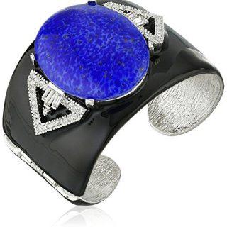 """Kenneth Jay Lane Black Enamel Cuff Bracelet, 2.25"""""""