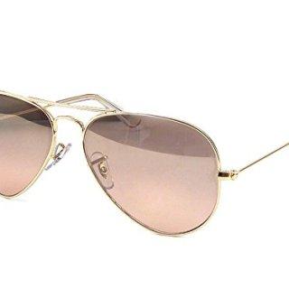 Ray-Ban Women's Oversized Original Aviator Sunglasses, Gold/Smoke Rose Mirror, One Size
