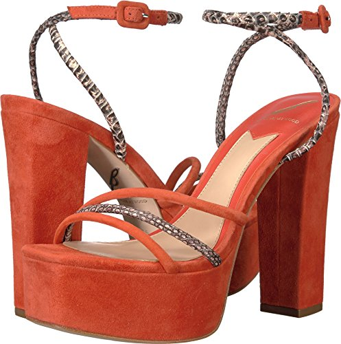 B Brian Atwood Women's Gigi Red Multi Suede 7.5 M US